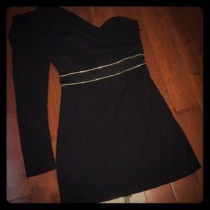 BEBE One shoulder dress, black, SIZE: S